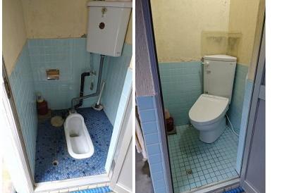 <トイレ施工事例 vol.6>和式から洋式トイレへの改修