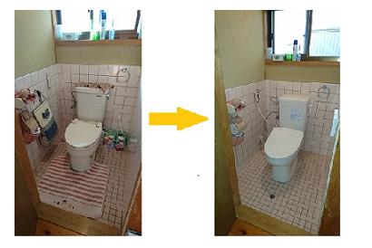 <トイレ施工事例 vol.8> 新しいトイレに取り替えたい