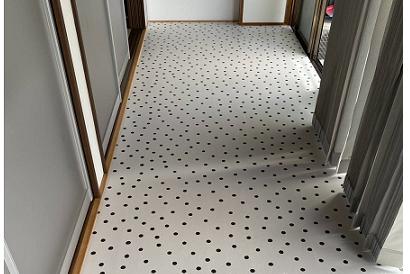 <その他施工事例 vol.25>広緑の床の上貼り修繕