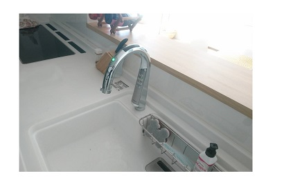 <その他施工事例 vol.46> キッチンの水栓をタッチレス水栓に交換